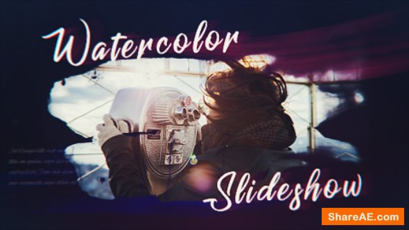Videohive Ink Watercolor Slideshow