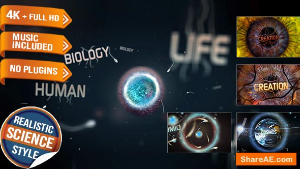 Videohive Science Physics Biology Opener Title