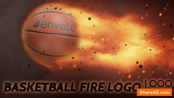Videohive Basketball Fire Logo