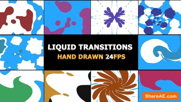 Videohive 2D FX Liquid Transitions
