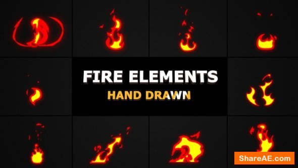 Videohive Cartoon Fire Elements