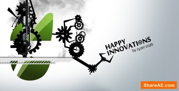 Videohive Happy Innovations - Fun Clean Mechanical Logo