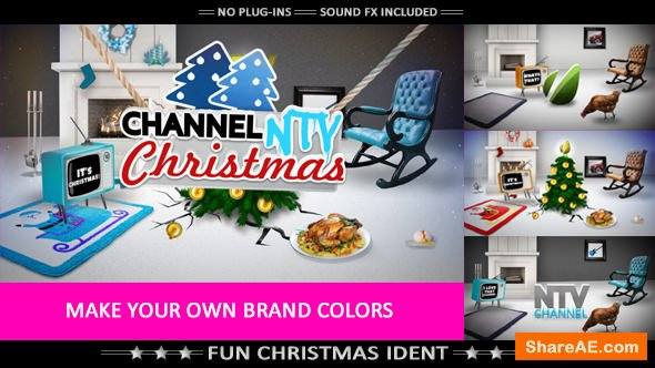 Videohive Merry Crazy Christmas - Funny Opener