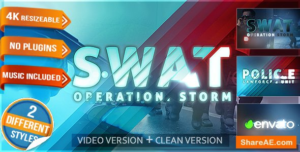 Videohive Police Logo - Law Force Show Short Opener