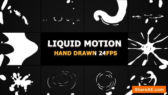 Videohive Liquid Motion Elements And Transitions