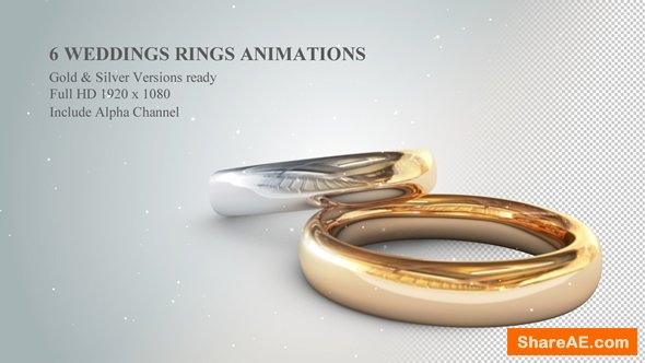 Videohive 6 3D Wedding Rings Animations