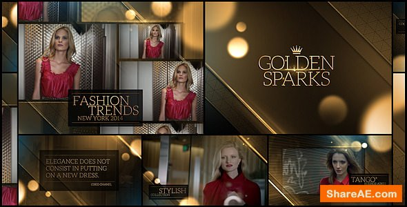 Videohive Golden Sparks 7940099
