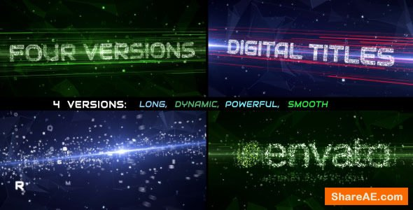 Videohive Data Stream Titles