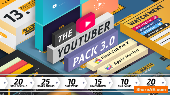 Videohive The Youtuber Pack - Final Cut Pro X