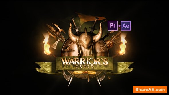 Videohive Epic Warrior Logo - Premiere Pro