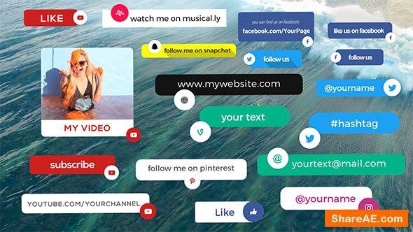 Videohive Social Media Info Box