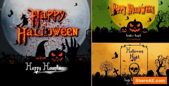 Videohive Halloween Vintage Openers