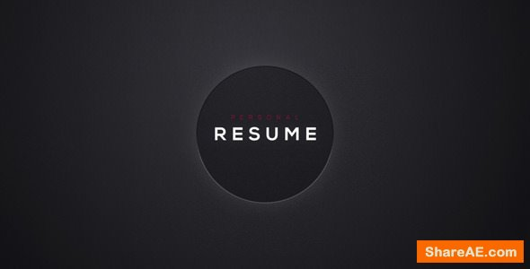 Videohive Personal Resume