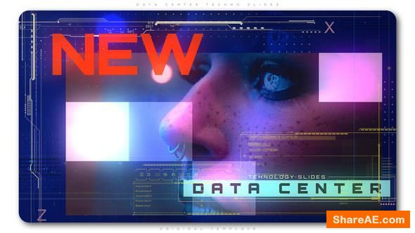 Videohive Data Center Techno Slides