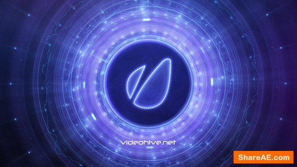 Videohive Disk Galaxy Logo Reveal