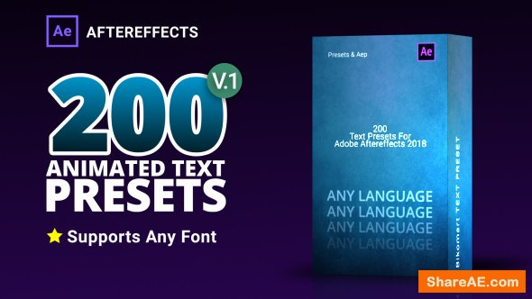Videohive Text Preset Pack for Aftereffects