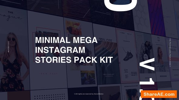 Videohive Minimal Mega Instagram Stories Pack Kit