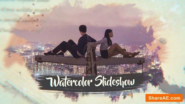Videohive Ink Watercolor Slideshow | Opener