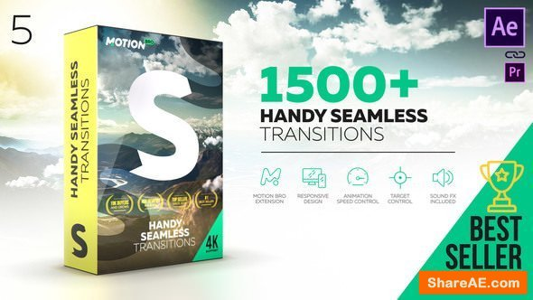 Videohive Handy Seamless Transitions | Pack & Script V5 [Cracked]