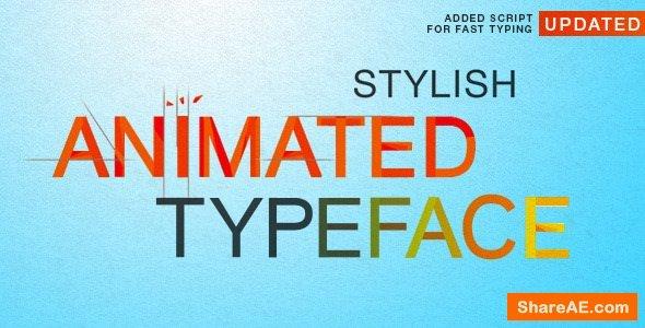 Videohive Stylish Animated Typeface