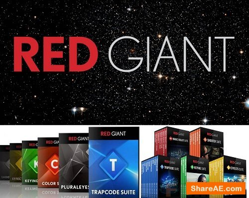 Red Giant Complete Suite 2018 for Adobe CS5 - CC 2019 (Updated 15.10.2018) (For WIN)