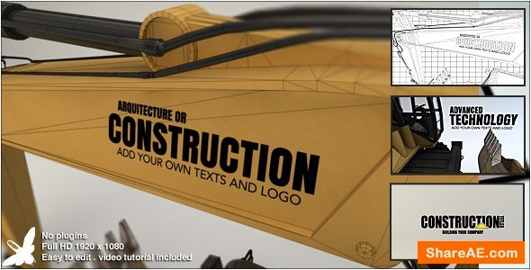 Videohive Construction Titles