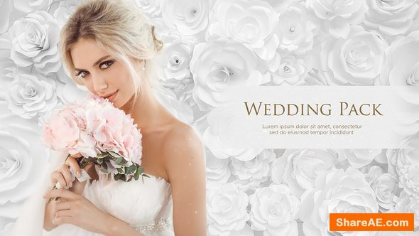 Videohive Wedding Pack - White Roses