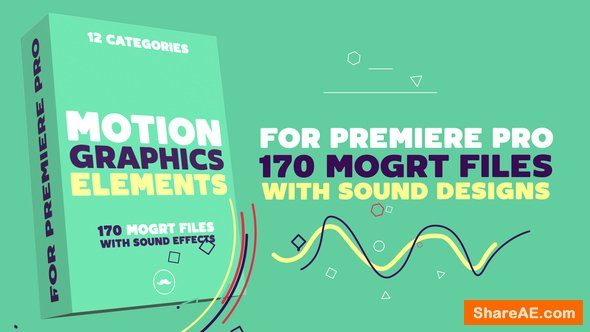 Videohive Motion Graphics Elements Pack | MOGRT For Premiere PRO