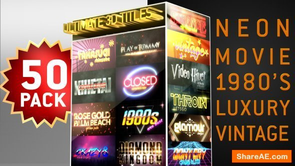 Videohive Ultimate Youtube 3D Titles Logo Openers Pack