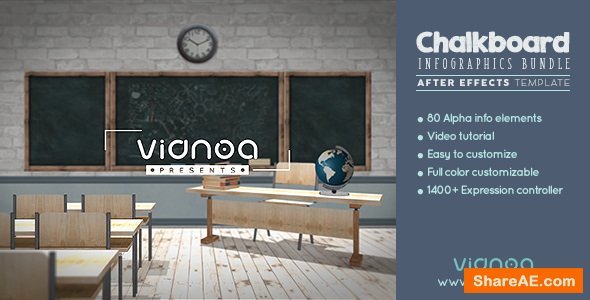 Videohive Chalkboard Infographics Bundle