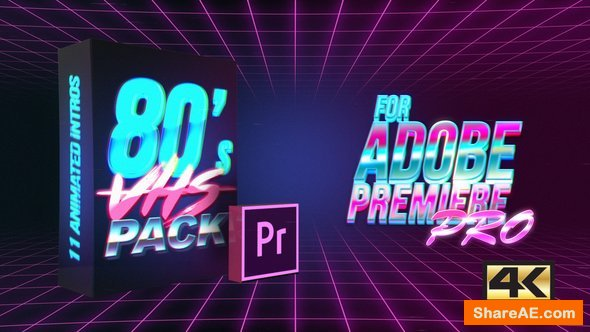 Videohive 80's VHS Intro Pack | MOGRT For Premiere PRO