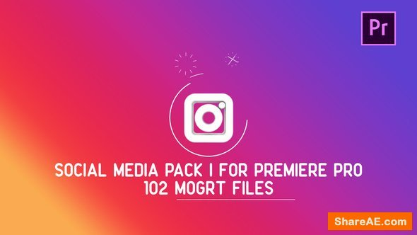 Videohive Social Media Pack | MOGRT For Premiere PRO