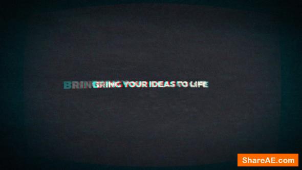Videohive Glitch Logo Reveals With Sound FX
