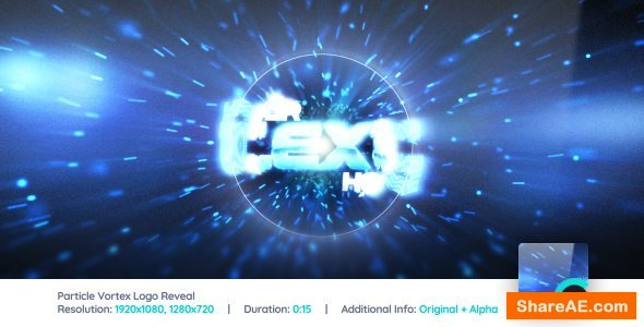 Videohive Particle Vortex Logo Reveal