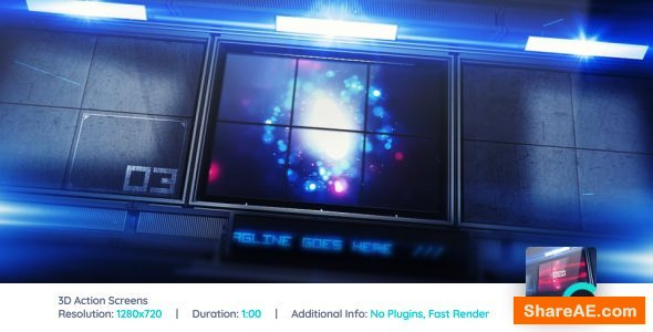 Videohive 3D Action Screens