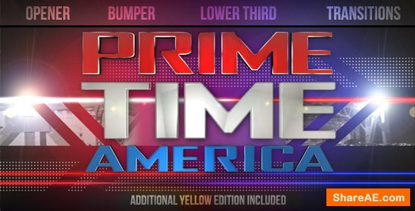 Videohive Prime Time Show Broadcast Pack