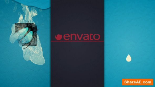 Videohive Ink Drop Logo Opener