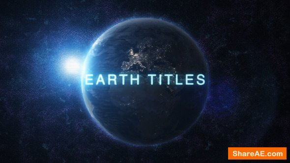 Videohive Earth Titles