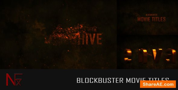Videohive Cinematic Blockbuster Movie Titles