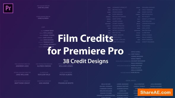 videohive film credits kit free after effects templates. Black Bedroom Furniture Sets. Home Design Ideas