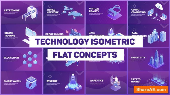 Videohive Technology Isometric Concepts