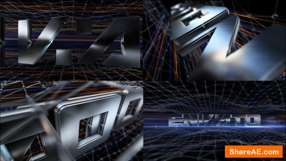 Videohive Brushed Metal Logo Text Reveal