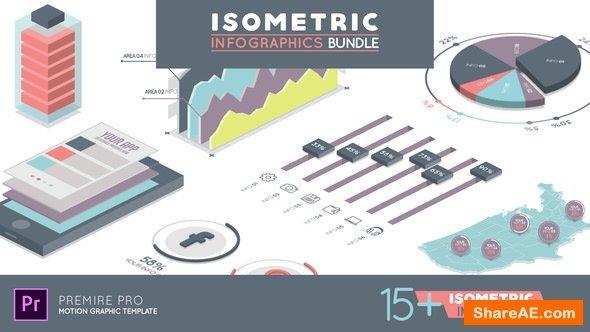 Videohive Isometric Infographics Bundle - Premiere Pro