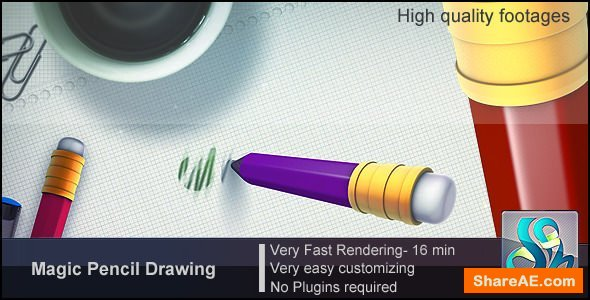 Videohive Magic Pencil Drawing