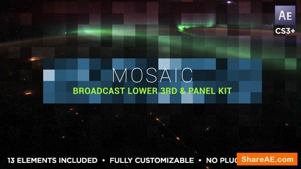 Videohive Mosaic Lower Third & Title Kit