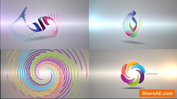 Videohive Clean Radial Logo Reveal Pack