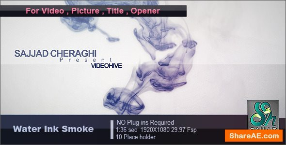 Videohive Water Ink Smoke