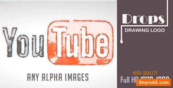 Videohive Drops Drawing Logo