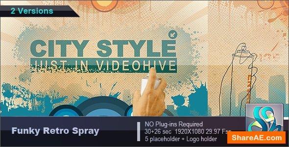 Videohive Funky Retro Spray