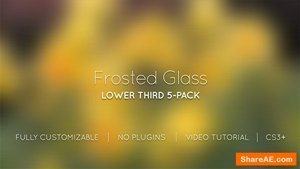 Videohive Frosted Glass Lower Thirds